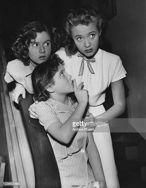 From left to right Ann Todd Elinor Donahue and Jane Powell star in the MGM musical film 'The Birds and the Bees' aka 'Three Daring Daughters' 1947