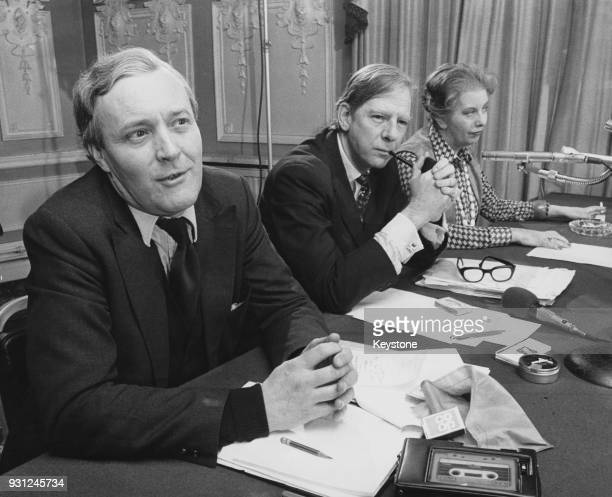 From left to right Anthony Wedgwood Benn the Secretary of State for Industry Peter Shore the Trade Secretary and Judith Hart the Minister for...