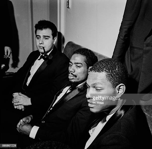 From left to right Argentine pianist composer and arranger Lalo Schifrin American musician Eric Dolphy and American jazz pianist McCoy Tyner circa...