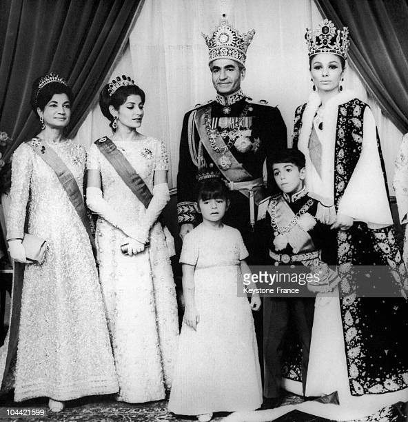 From Left To Right Ashraf Pahlavi Princess Shahnaz Pahlavi His Imperial Highness Shahanshah Arya Mehr The Empress Of Iran Farah Diba Princess...