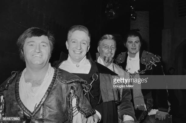 From left to right Australian opera singers Donald Smith as Ernani David MortonGay as Don Riccardo Clifford Grant as Don De Silva and Robert...