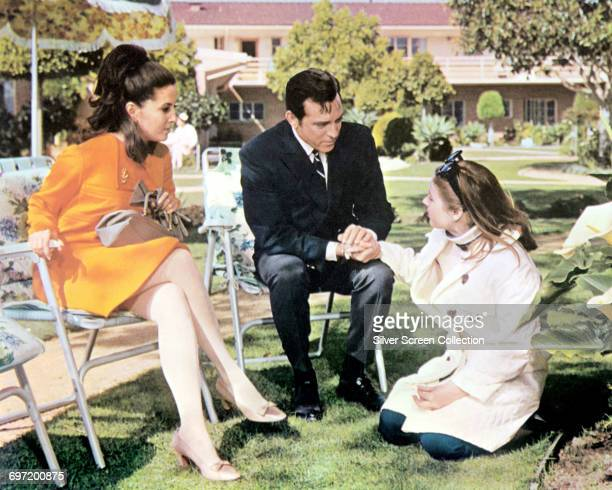 From left to right Barbara Parkins as Anne Welles Paul Burke as Lyon Burke and Patty Duke as Neely O'Hara in the film 'Valley of the Dolls' 1967