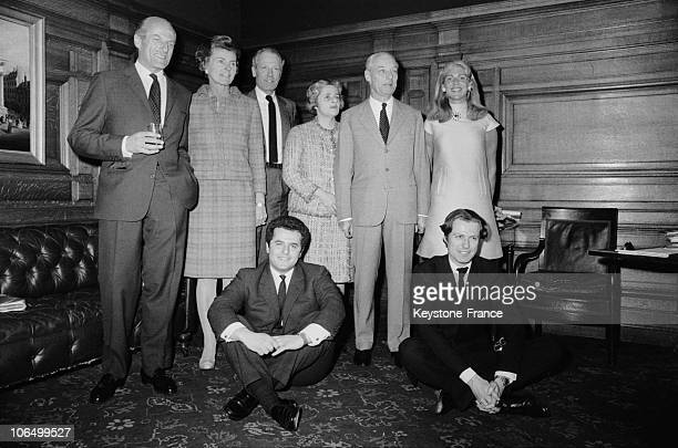 From Left To Right Baron Elie De Rothschild His Wife Liliane His Brother Alain De Rothschild And His Wife Mary Their Cousin Guy De Rothschild And His...