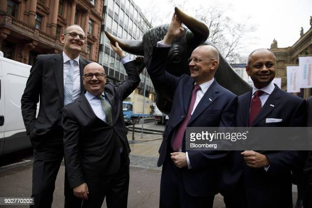 From left to right Bernd Montag chief executive officer of Siemens Healthineers AG Jochen Schmitz chief financial officer Siemens Healthineers AG...