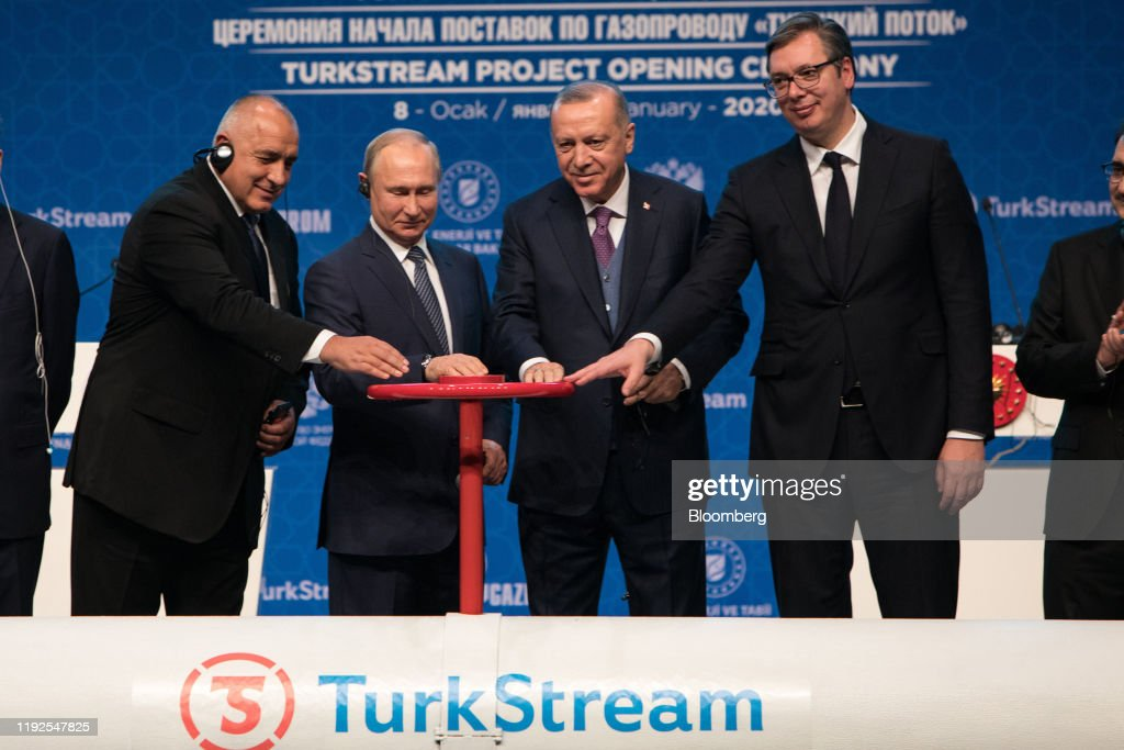 Russia Opens Natural Gas Link to Turkey Amid U.S. Opposition : Nieuwsfoto's