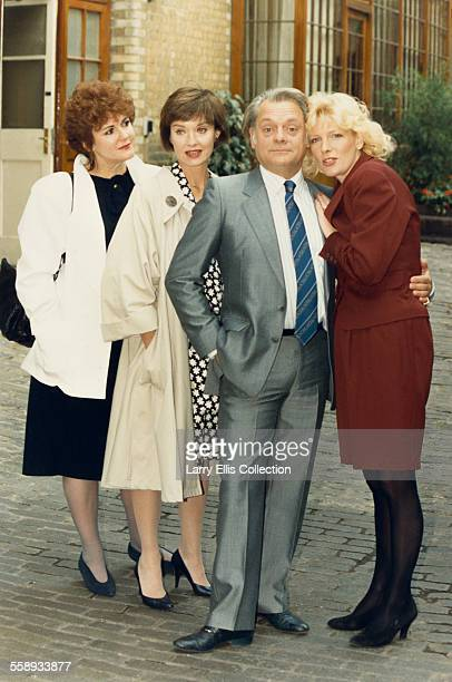 From left to right British actors Gwen Taylor Nicola Pagett David Jason and Diana Weston UK circa 1989 They are all stars of the British comedy...