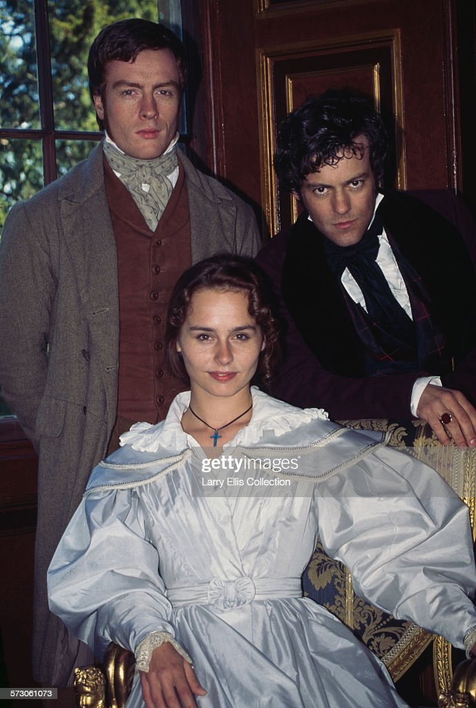 From left to right, British actors Toby Stephens, Tara Fitzgerald and Rupert Graves n a publicity still for the British television mini-series 'The Tenant of Wildfell Hall', 1996. The series was based on the 1848 novel by Anne Bronte.