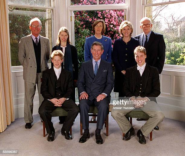 From left to right Bryan Organ, Lady Sarah Chatto, Lady Vestey, Mrs Bartholomew and Gerald Ward, Prince Harry, The Prince of Wales and Prince...