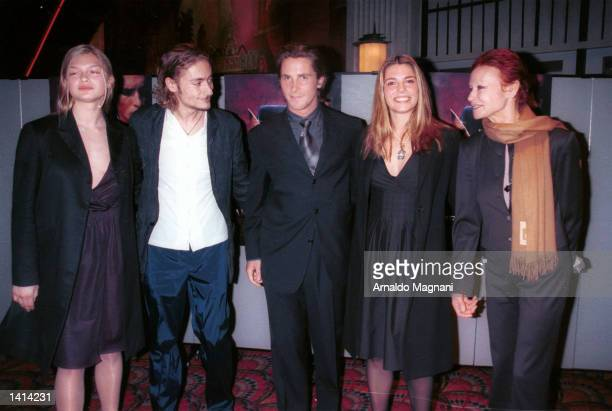From left to right Carolina Muller Julian Cerruti Christian Bale his wife Sibi and Cerruti''s mother Chantal attend the New York premiere of...