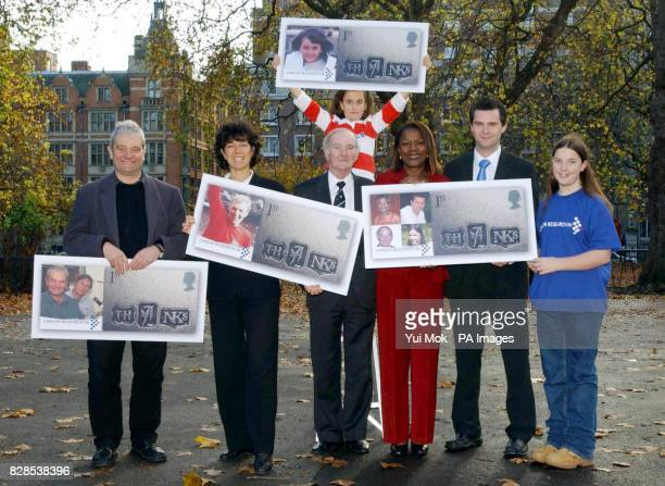 From left to right Chief Executive of Cancer Research UK Sir Paul Nurse widow of 1966 World Cup footballer Bobby Moore Stephanie Moore fundraiser...