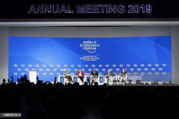 From left to right Christine Lagarde managing director of the International Monetary Fund Kristalina Georgieva chief executive officer of the World...