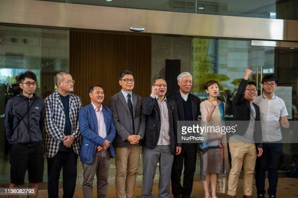 From Left to Right Chung YiuWa Shiu KaChun Lee WingTat Chan KinMan Benny Tai YiuTing Chu YiuMing Tanya Chan Raphael Wong and Lee Wing Tat are seen...