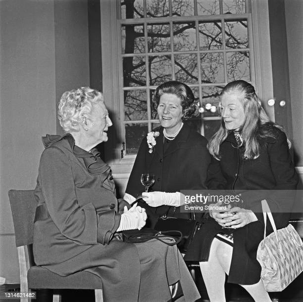 From left to right, Clementine Churchill, Baroness Spencer-Churchill , the widow of former British Prime Minister Winston Churchill, with their...