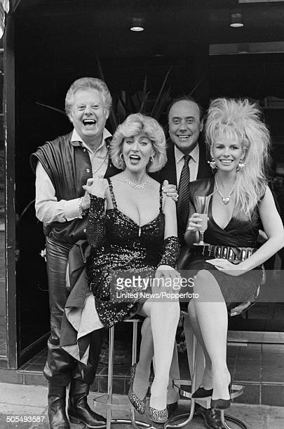 Danny La Rue Faith Brown Victor Spinetti and Pamela Stephenson pictured together in London on 15th May 1984