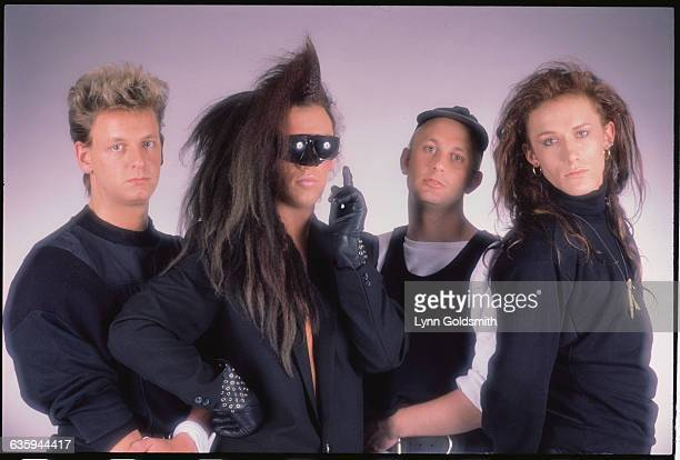 From left to right Dead or Alive are Mike Percy Pete Burns Tim Lever and Steve Coy