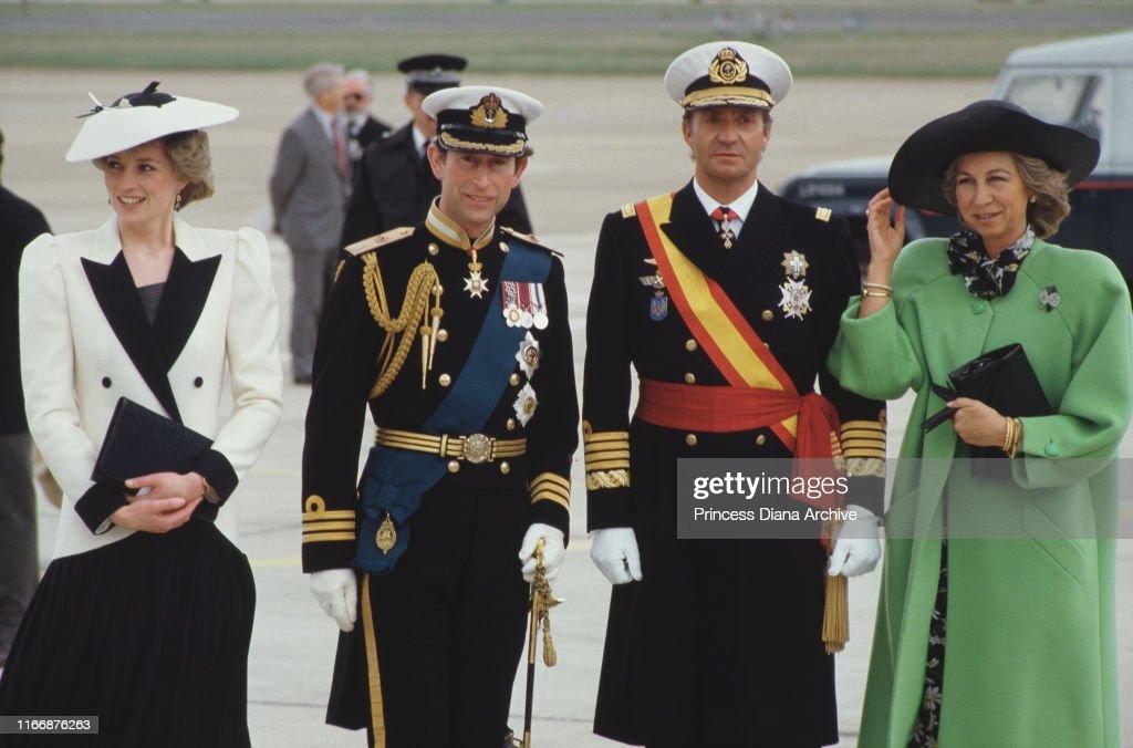 British And Spanish Royals : News Photo