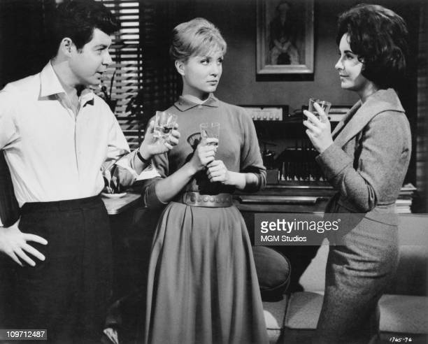 From left to right Eddie Fisher Susan Oliver and Elizabeth Taylor star in the MGM film 'Butterfield 8' 1960