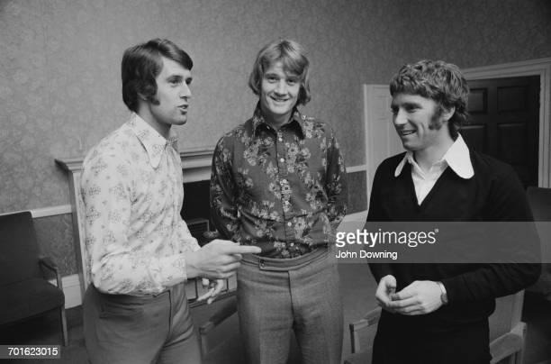 From left to right, England footballers Geoff Hurst, Rodney Marsh and Alan Ball Jr. , UK, 7th November 1971.