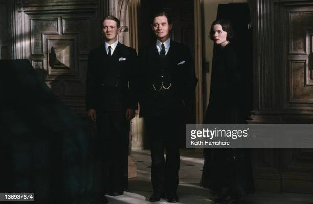 From left to right English actors Alex Lowe Anthony Andrews and Kate Beckinsale as ghostly siblings in a scene from the film 'Haunted' 1995