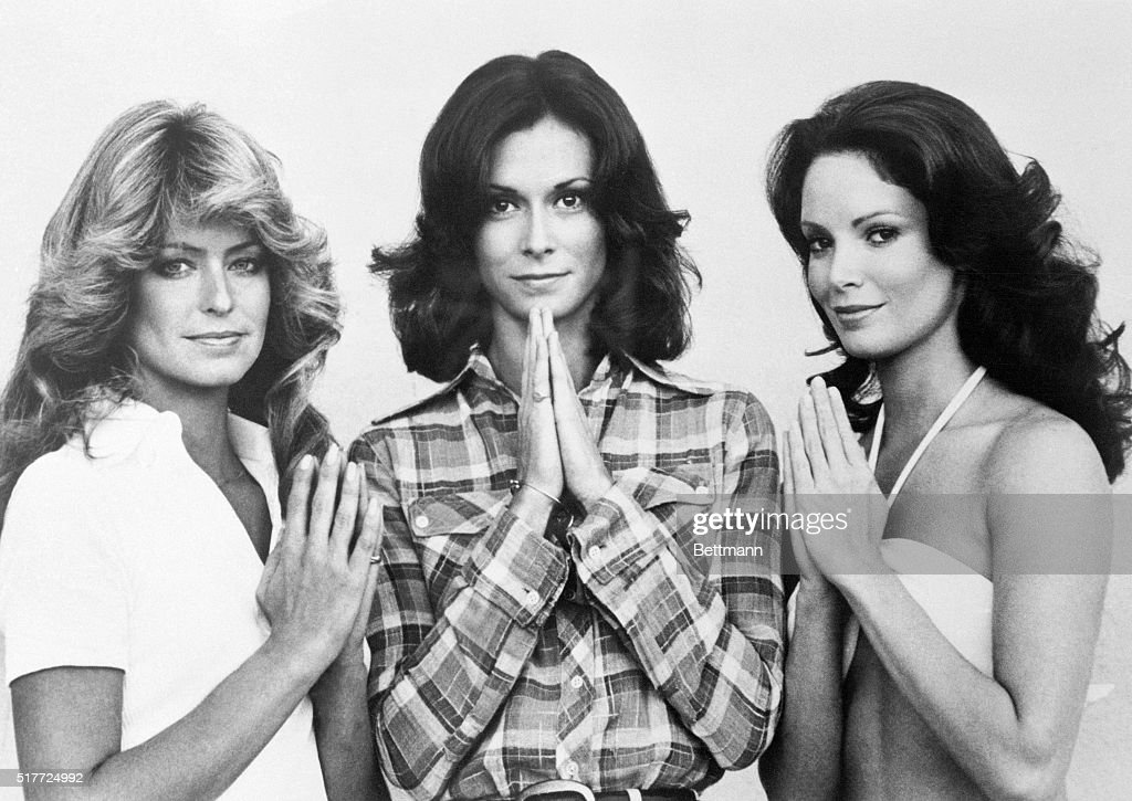 From left to right, Farrah Fawcett, Kate Jackson and Jaclyn Smith of Charlie's Angels