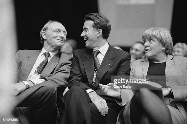 From left to right, former party leader Neil Kinnock, Peter Mandelson and Mo Mowlam at the Labour Party Conference in Brighton, 1997.