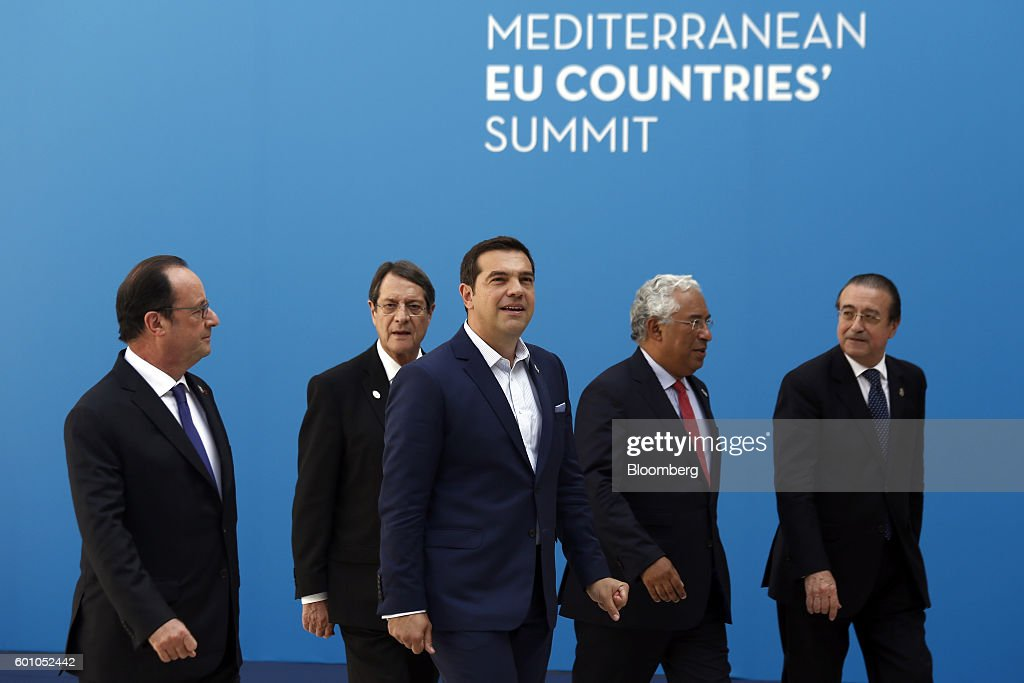 European Leaders Attend Mediterranean European Union Countries' Summit