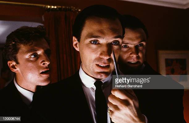 From left to right Gary Love Martin Kemp and Gary Kemp star in the film 'The Krays' 1990