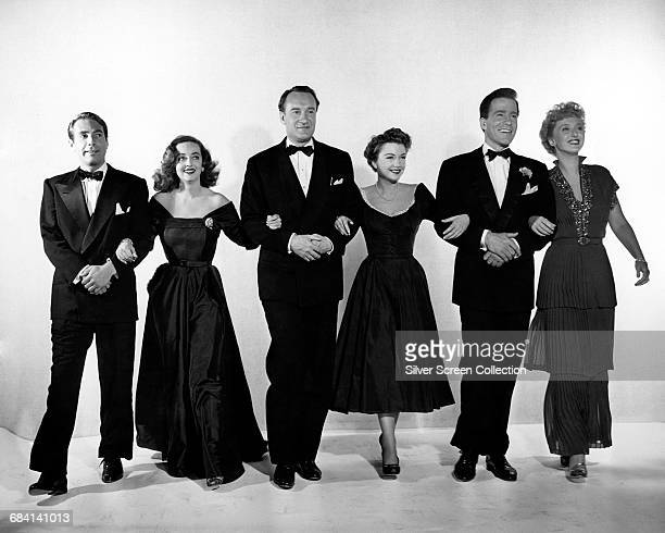 From left to right Gary Merrill as Bill Simpson Bette Davis as Margo Channing George Sanders as Addison DeWitt Anne Baxter as Eve Harrington Hugh...
