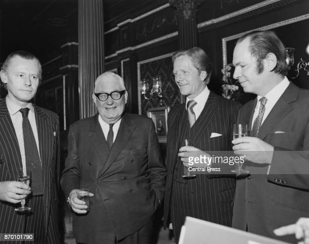 From left to right Gerald Spring Rice 6th Baron Monteagle of Brandon newspaper magnate Roy Thomson 1st Baron Thomson of Fleet Hugh Seymour 8th...