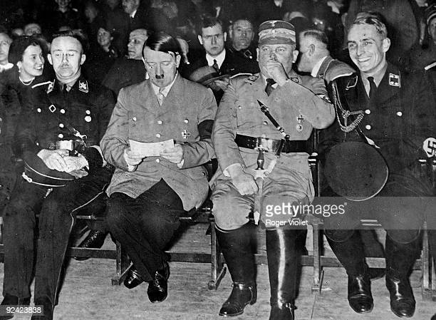 From left to right Himmler Hitler and Röhm German politicians around 1930