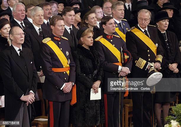 HRH Grand Duke Jean of Luxembourg HRH Grand Duke Henri HRH Grand Duchess Maria Teresa of Luxembourg HRH Grand Duc Guillaume of Luxembourg HRH Queen...