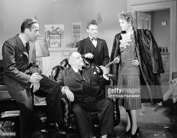 From left to right Humphrey Bogart Sydney Greenstreet Peter Lorre and Mary Astor star in 'The Maltese Falcon' directed by John Huston and based on a...