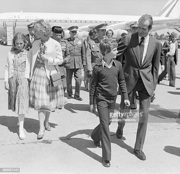 Infante Elena, Queen Sofia, Infante Felipe and King Juan Carlos of Spain.