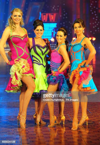 Jodie Kidd Jill Halfpenny Rachel Stevens and Cherie Lunghi at photocall to promote Strictly Come Dancing Live Tour 2009 at the Metro Radio Arena in...