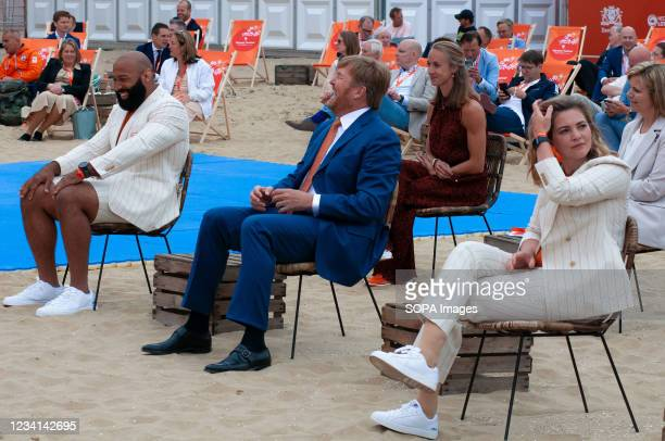 From left to right: Judoka Roy Meyer who competed 2016 Summer Olympics in Rio de Janeiro, HRH King Willem-Alexander and on the right: Paralympic...
