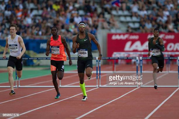 From Left to Right Karsten Warholm Kyron MCMaster MAbderrahman Samba and Tj Holmes compete in the 400m Hurdles men of the IAAF Diamond League Meeting...