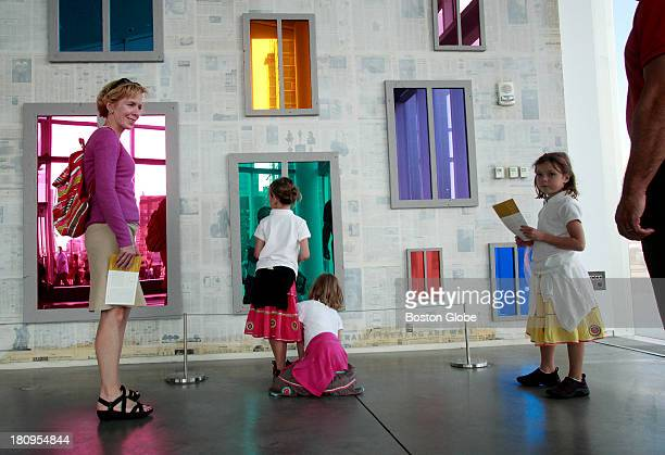 From left to right: Kathleen Garvey visits The Institute of Contemporary Art with her daughters Anna, Lily and Cece and husband Jerry on Friday, July...