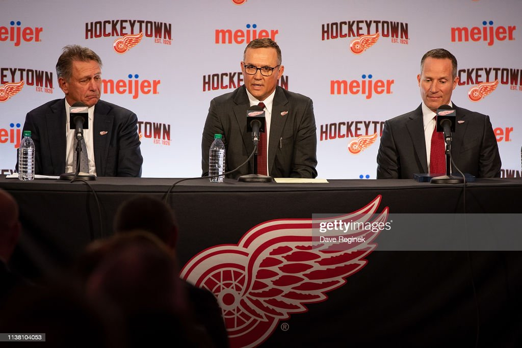 MI: Detroit Red Wings Introduce New General Manager Steve Yzerman