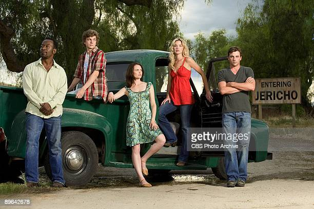 From left to right Lennie James Erik Knudsen Sprague Grayden Ashley Scott and Skeet Ulrich star as the residents of a small Kansas town which is...