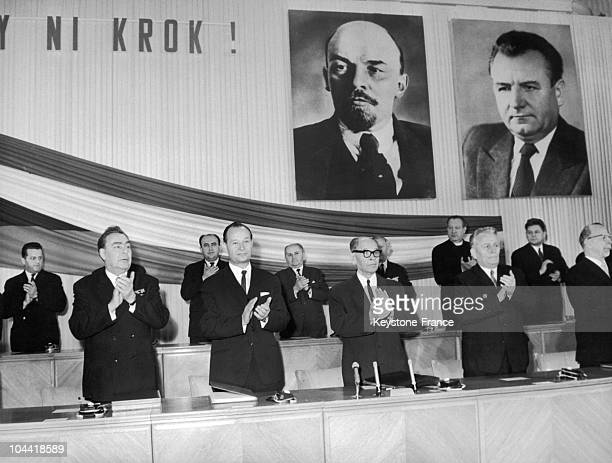 From Left To Right Leonid Brejnev The SecretaryGeneral Of The Central Committee Of The Communist Party Of The Soviet Union Alexander Dubcek Secretary...
