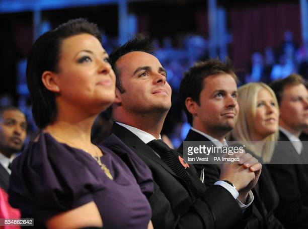 Lisa Armstrong Anthony McPartlin and Declan Donnelly at the 2008 National Television Awards at the Royal Albert Hall Kensington Gore SW7