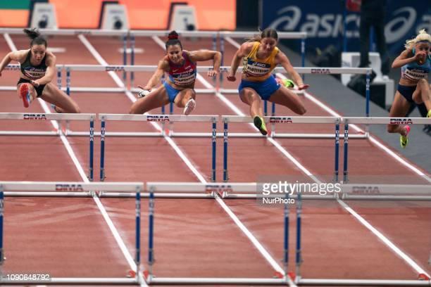Luca Kozak Andrea Ivancevic Hanna Plotitsyna Karolina Koleczek compete in 60m Hurdles during the Athletics Indoor Meeting of Paris 2019 at...
