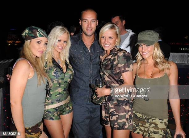Malene Espensen Kayleigh Pearson Callum Best Rachael Tennant and Natalie Pike at the Topic Thunder Premiere after party London