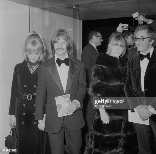 From left to right Maureen Starkey Ringo Starr Miranda Quarry and Peter Sellers at the gala world premiere of the film 'Oh What a Lovely War' at the...