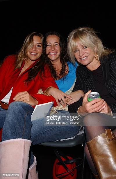 Melanie Blatt Leah Wood and Jo Wood at the Betty Jackson Spring/Summer 2005 fashion show during London Fashion Week