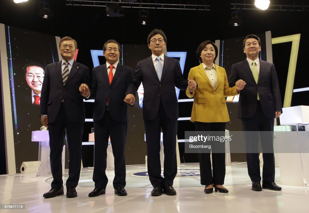 South Korea Presidential Candidates Attend Televised Debate