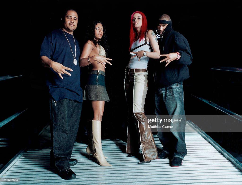 Murder Inc. Records CEO Irv Gotti, Ashanti, Charli Baltimore, and Ja Rule.