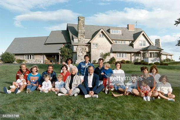 From left to right Neil and Sharon Bush George W Bush and wife Laura Barbara and George Bush Margaret and Marvin Bobby Koch and Dorothy Jeb and...