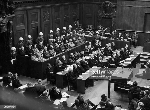 From Left To Right On The First Row Hermann Goering Rudolf Hess Joachim Von Ribbentrop Wilhelm Keitel Ernst Kaltenbrunner Alfred Rosenberg Hans Frank...