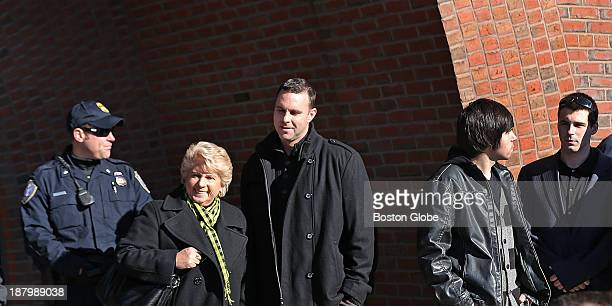 From left to right Patricia DonahueTommy Donahue and grandsons Riley and Sean Donahue outside the courthouse Victim impact statements are heard at...